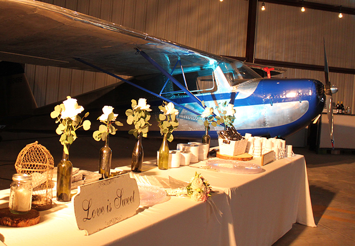 Airplane wedding decoration