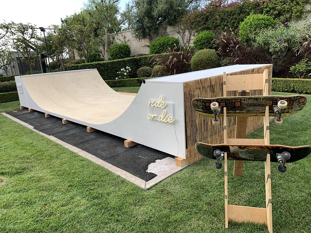 Wedding skateboard ramp